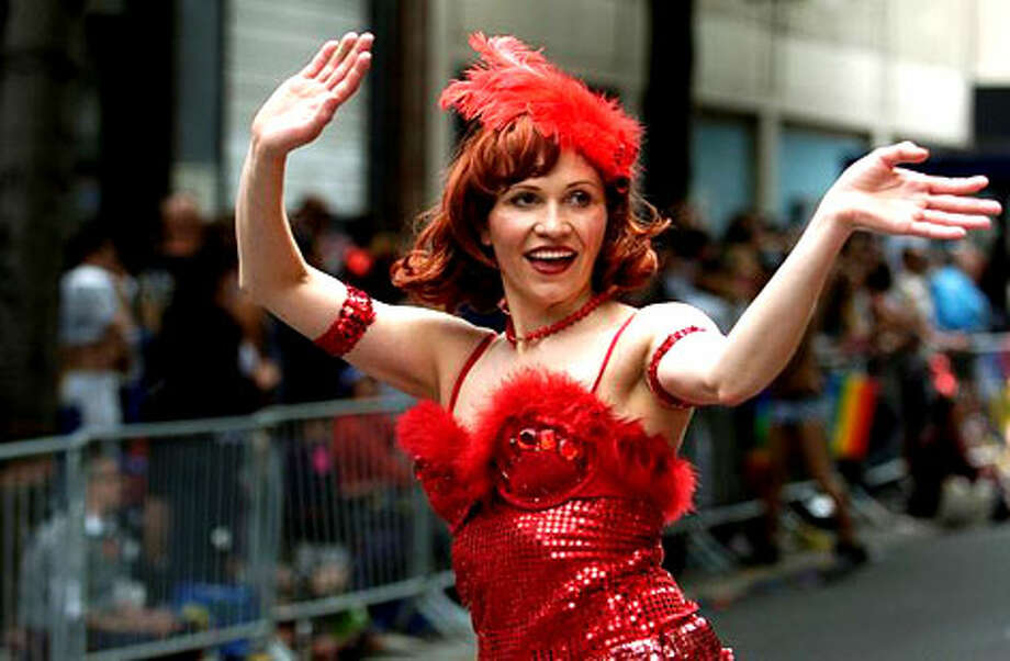A participant at the Seattle Pride Parade, which is held during the last weekend of June each year. (Sang Cho/seattlepi.com)