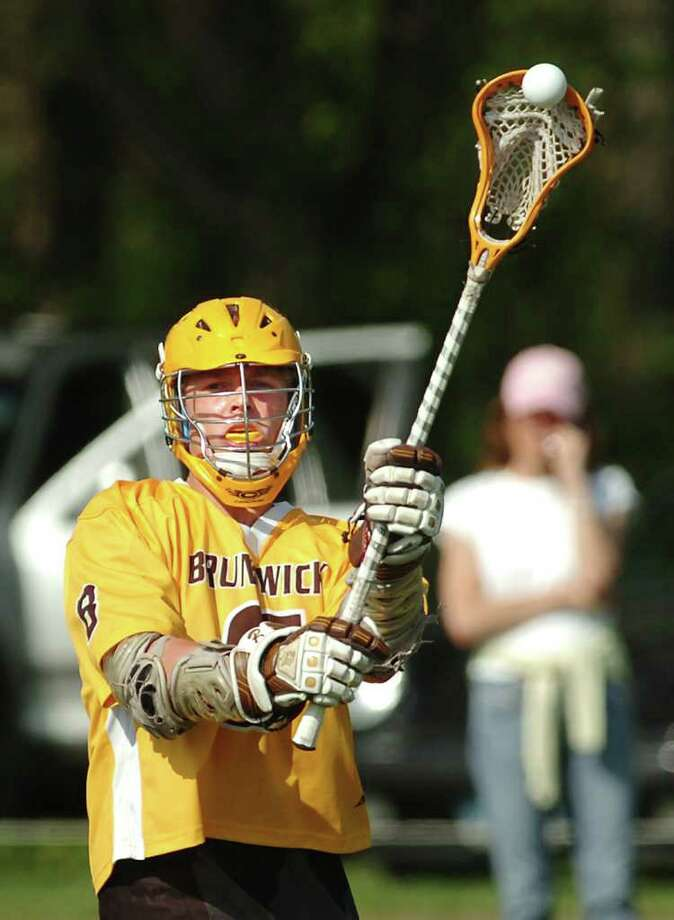 Brunswick lacrosse star Bo Stafford had 51 goals and 37 assists and led the Bruins to 13-5 record last season. Photo: Bob Luckey, ST / Greenwich Time