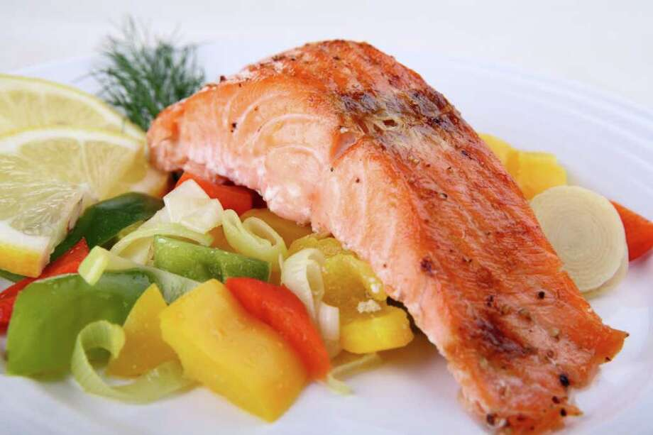More seafood ? a recommended 8 ounces per week ? and less meat and poultry are suggested by the new guidelines. (Jacek Chabraszewski / Fotolia) / Jacek Chabraszewski - Fotolia