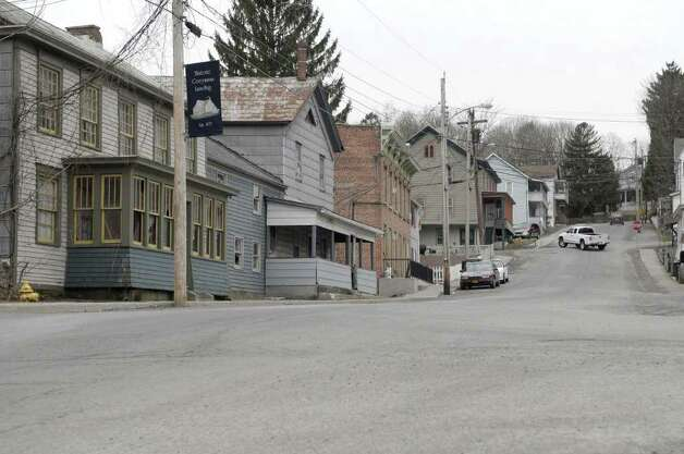 A view looking up Westerlo Street on Thursday, March 31, 2011, in Coeymans, NY.  Coeymans has had a decline in population. (Paul Buckowski / Times Union) Photo: Paul Buckowski / 00012595A
