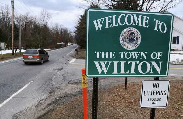 View of the Town of Wilton sign on Route 50 at the intersection of Robbins Road on Thursday, March 31, 2011, in Wilton, NY.  ( Philip Kamrass/ Times Union ) Photo: Philip Kamrass