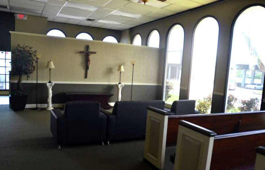 The former bank branch is currently being outfitted with a chapel. Beth Rankin/The Enterprise Photo: Beth Rankin