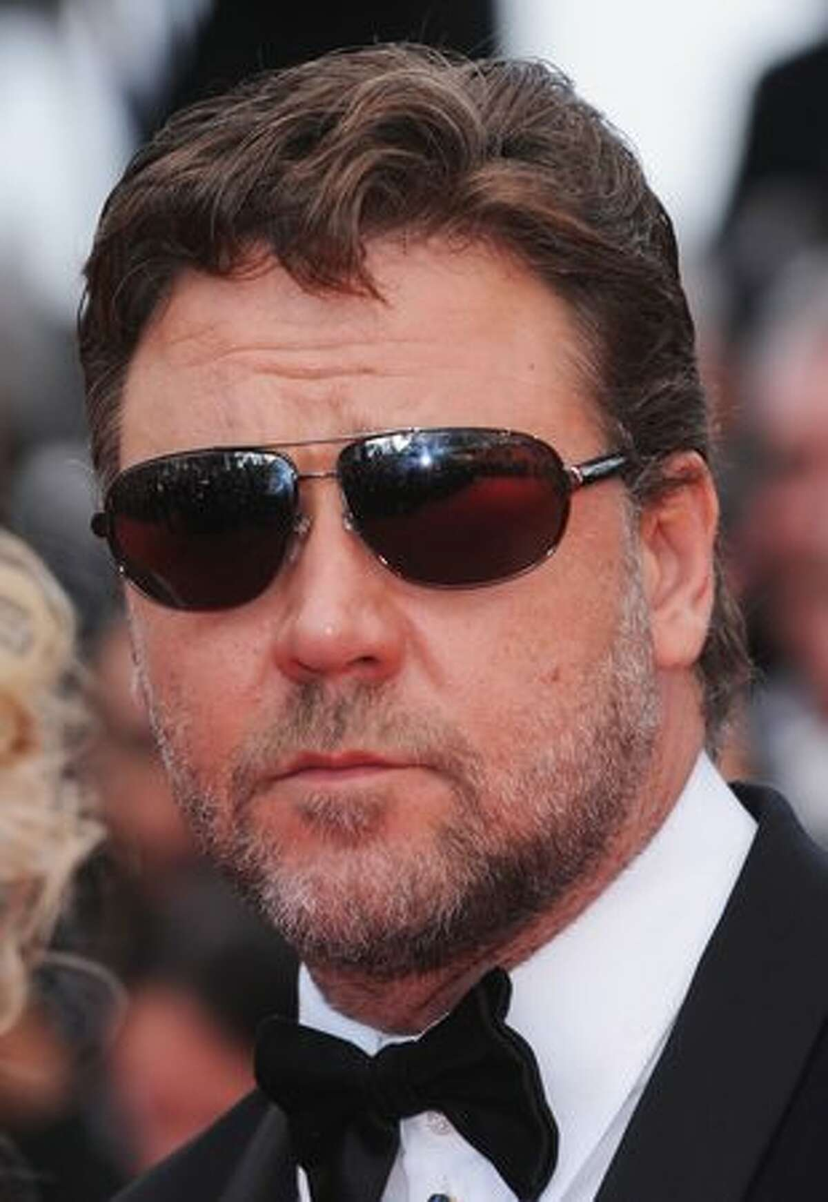 Actor Russell Crowe attends the 'Robin Hood' premiere during the 63rd Annual Cannes Film Festival in Cannes, France.