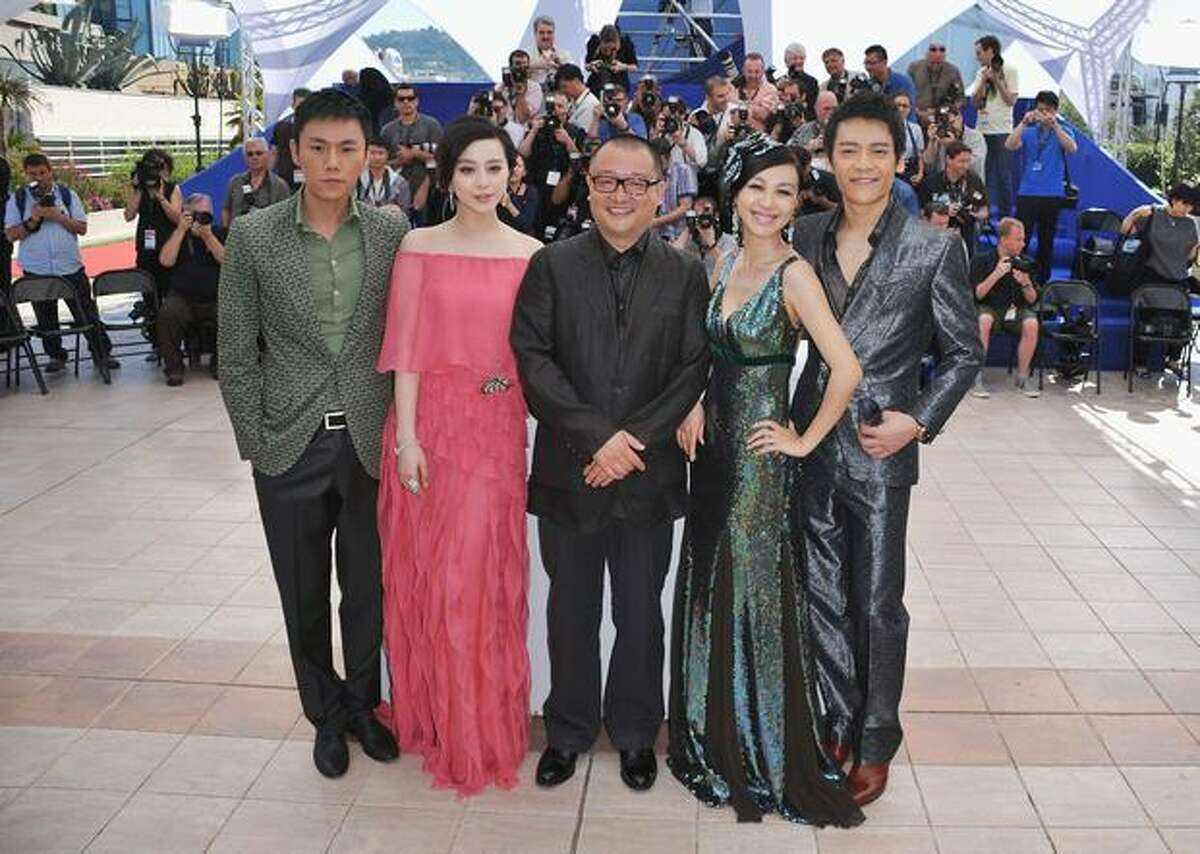 Yi Zi, Li Feier, Xiaoshuai Wang, Fan BingBing and Hao Qin attend the 'Chongqing Blues' Photocall at the Palais des Festivals during the 63rd Annual Cannes Film Festival on Thursday, May 13 in Cannes, France.