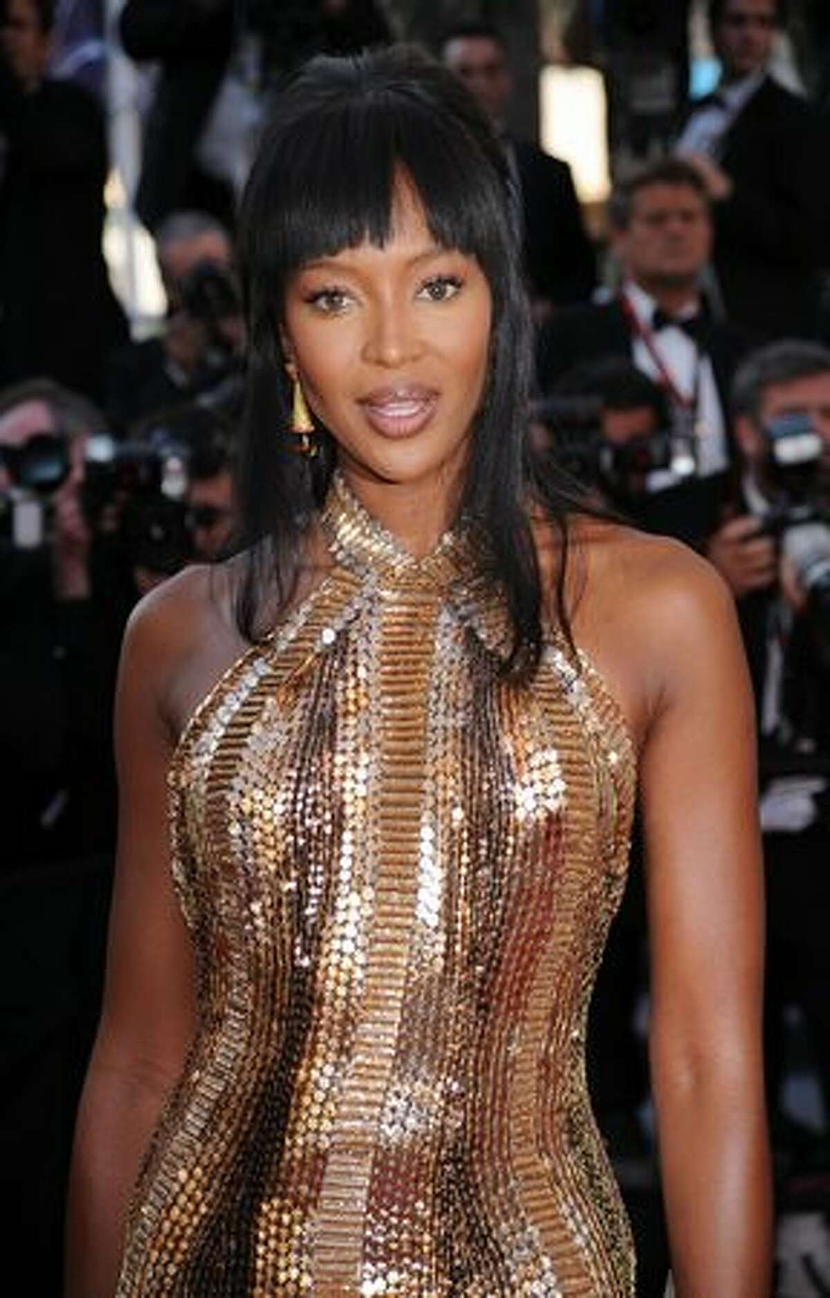 """Model Naomi Campbell attends the """"Biutiful"""" premiere at the Palais des Festivals during the 63rd Annual Cannes Film Festival."""