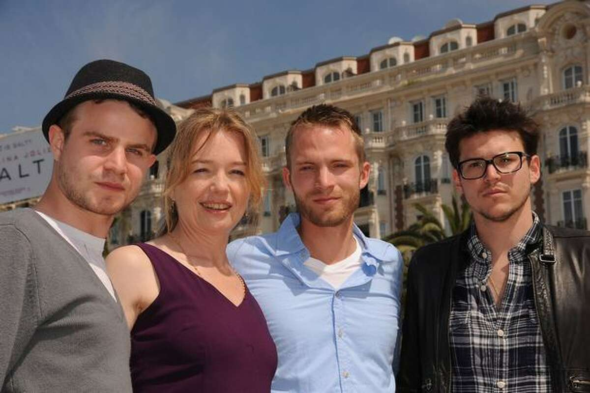 (L-R) Actor Brady Corbet, actress Karen Young, actor David Call and Writer/Director Alistair Banks Griffin attend the
