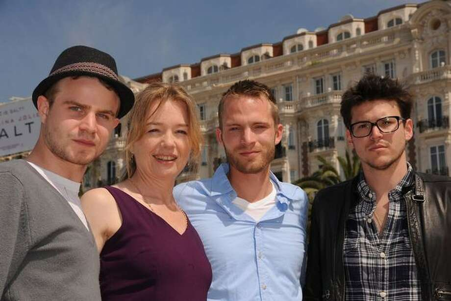 "(L-R) Actor Brady Corbet, actress Karen Young, actor David Call and Writer/Director Alistair Banks Griffin attend the ""Two Gates of Sleep"" Photocall at the Style Lounge Beach during the 63rd Annual Cannes Film Festival. Photo: Getty Images / Getty Images"