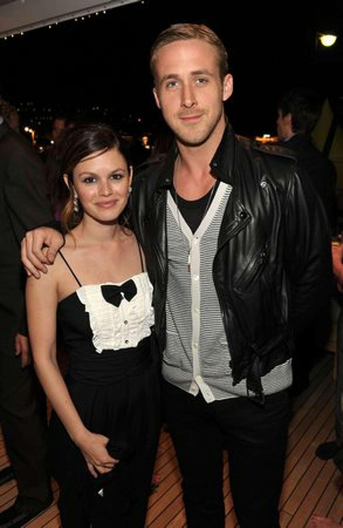 Actors Rachel Bilson and Ryan Gosling attend the