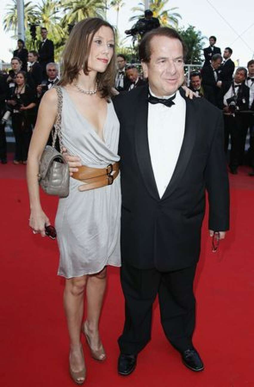 CANNES, FRANCE - MAY 22: Paul-Loup Sulitzer and guest attend the