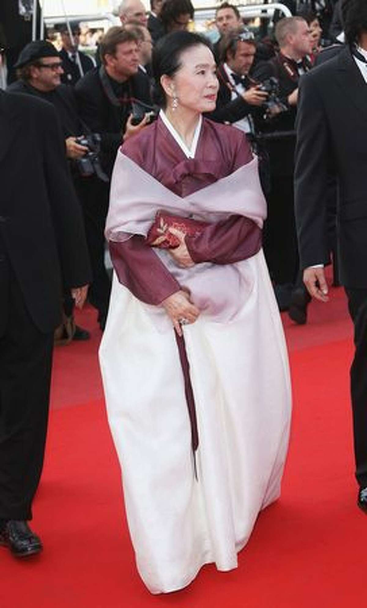 Actress Jeong-hee Yoon attends the Palme d'Or Award Closing Ceremony.