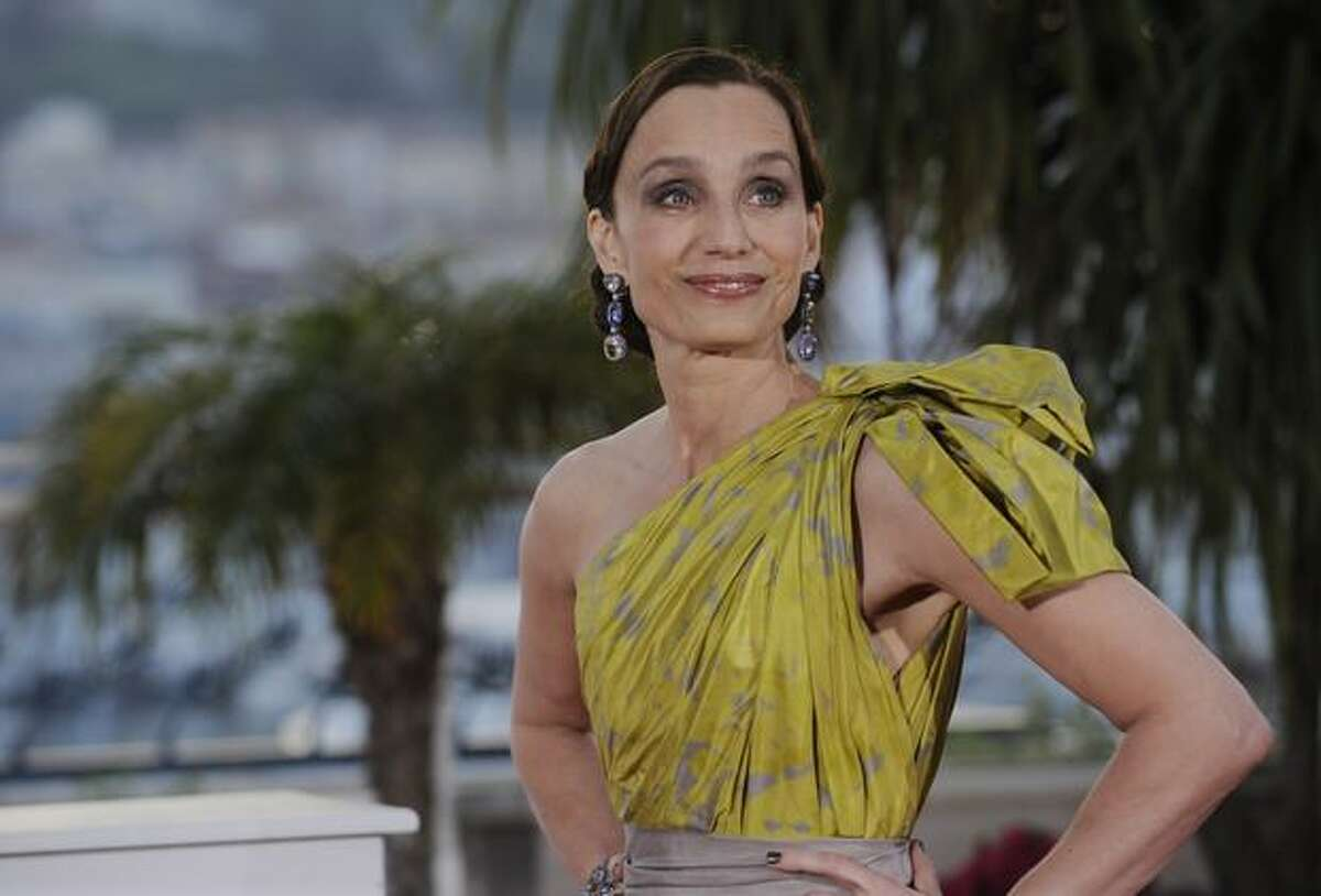 British actress Kristin Scott Thomas poses during the photocall of the closing ceremony