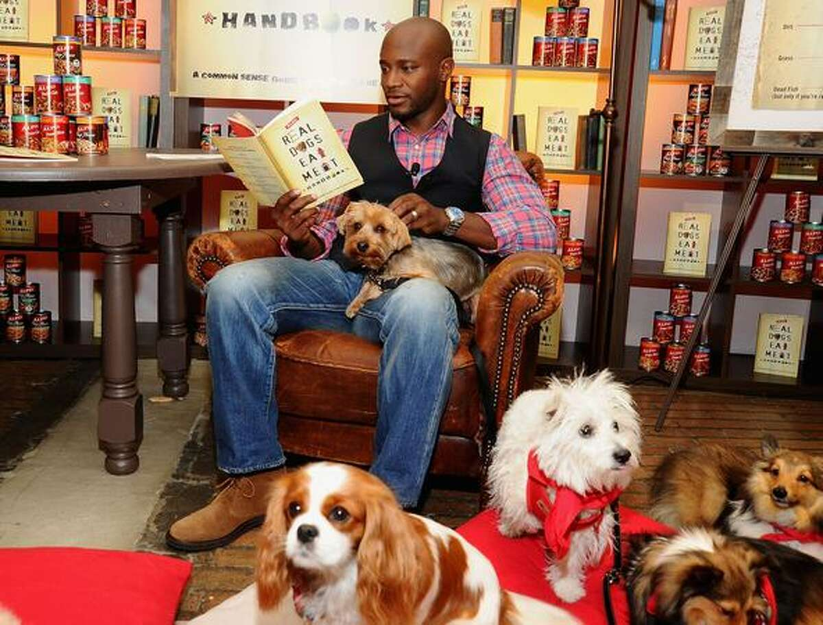 A group of real dogs were all ears as actor and dog lover Taye Diggs read excerpts from the newly released ALPO