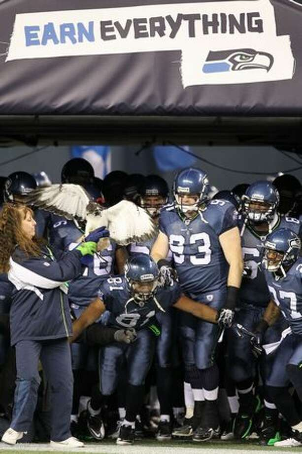 The Seattle Seahawks prepare to take the field against the St. Louis Rams. Photo: Getty Images / Getty Images
