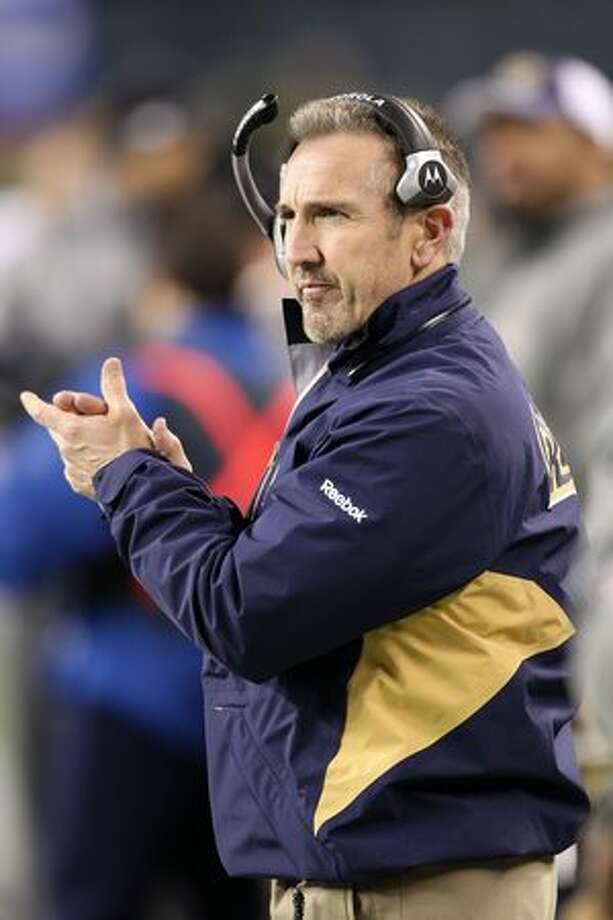 Head coach Steve Spagnuolo of the St. Louis Rams looks on during their game against the Seattle Seahawks. Photo: Getty Images / Getty Images