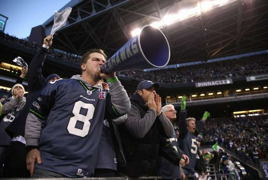 Seahawks fans make their signature sound during the game. Photo: Joshua Trujillo, Seattlepi.com / seattlepi.com