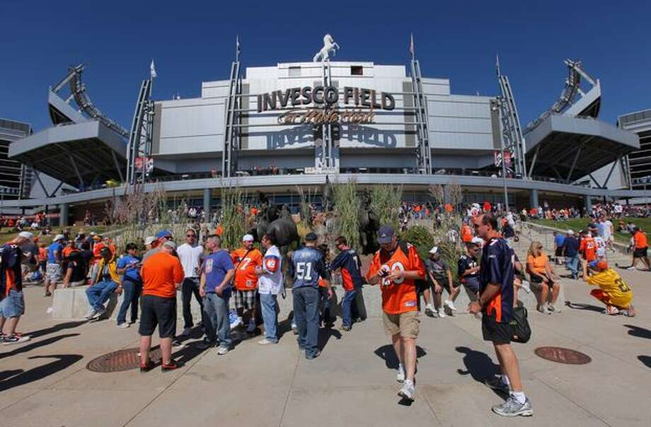 Fans head for the gates as the Seattle Seahawks face the Denver Broncos at INVESCO Field at Mile High in Denver on Sunday, Sept. 19, 2010. Photo: Getty Images / Getty Images