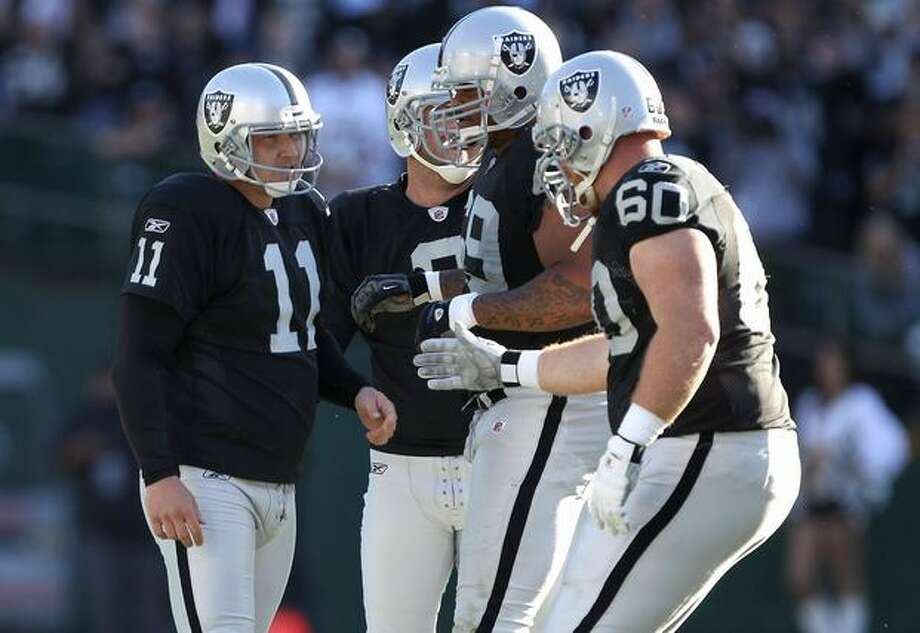 The Seahawks signed former Raiders kicker Sebastian Janikowski on Friday. Photo: Getty Images / Getty Images