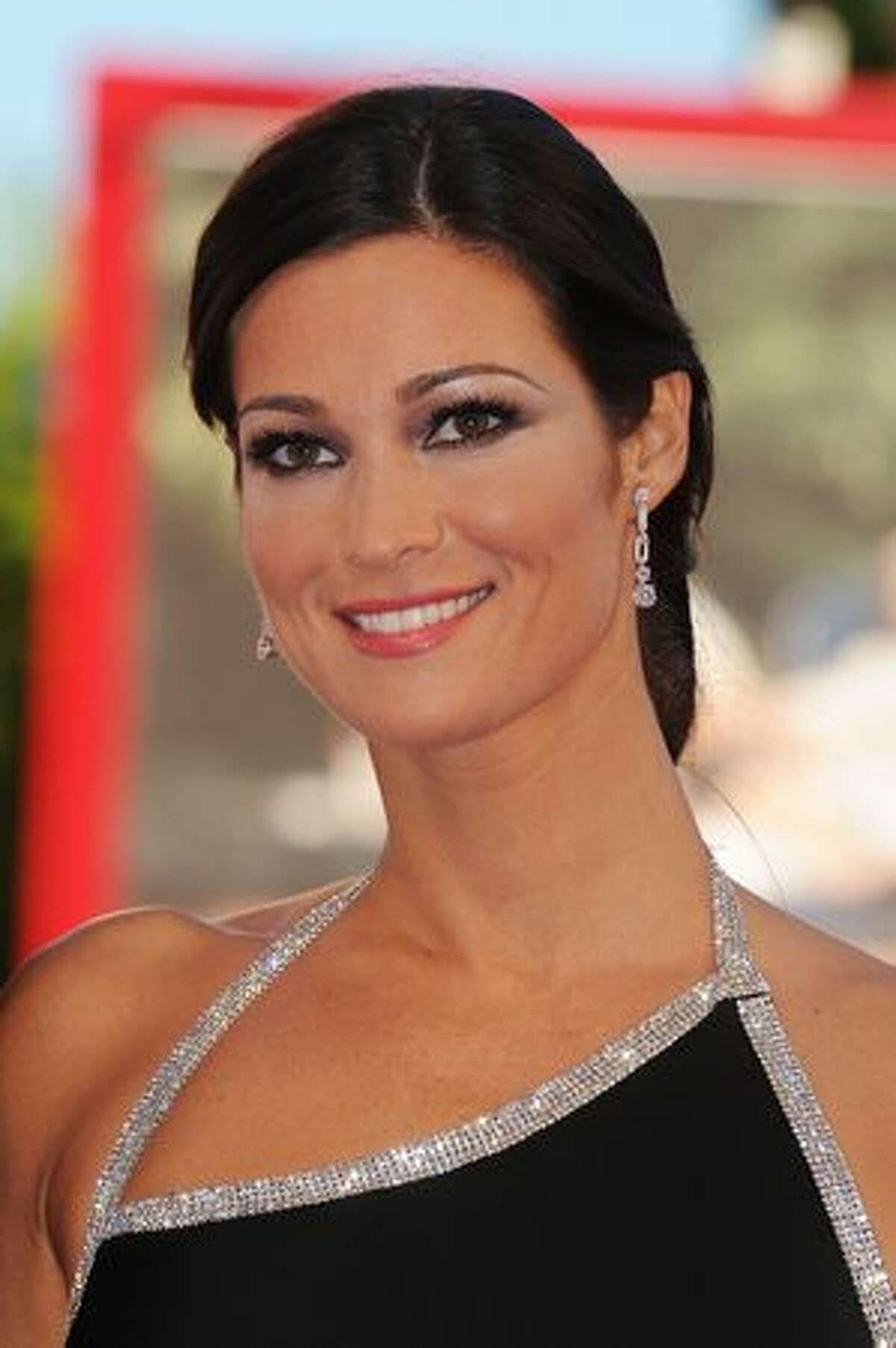 Manuela Arcuri attends the opening ceremony and