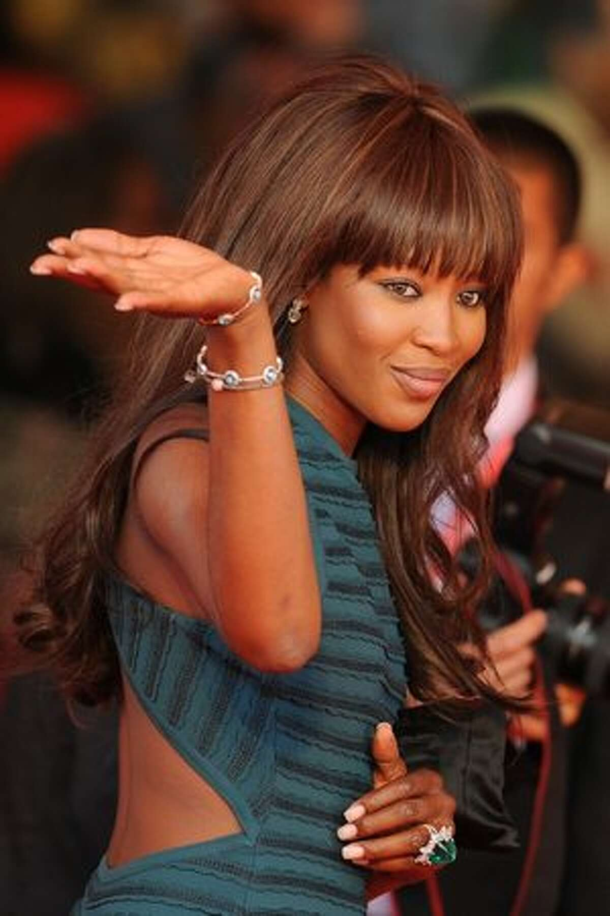 Model Naomi Campbell arrives for the screening of
