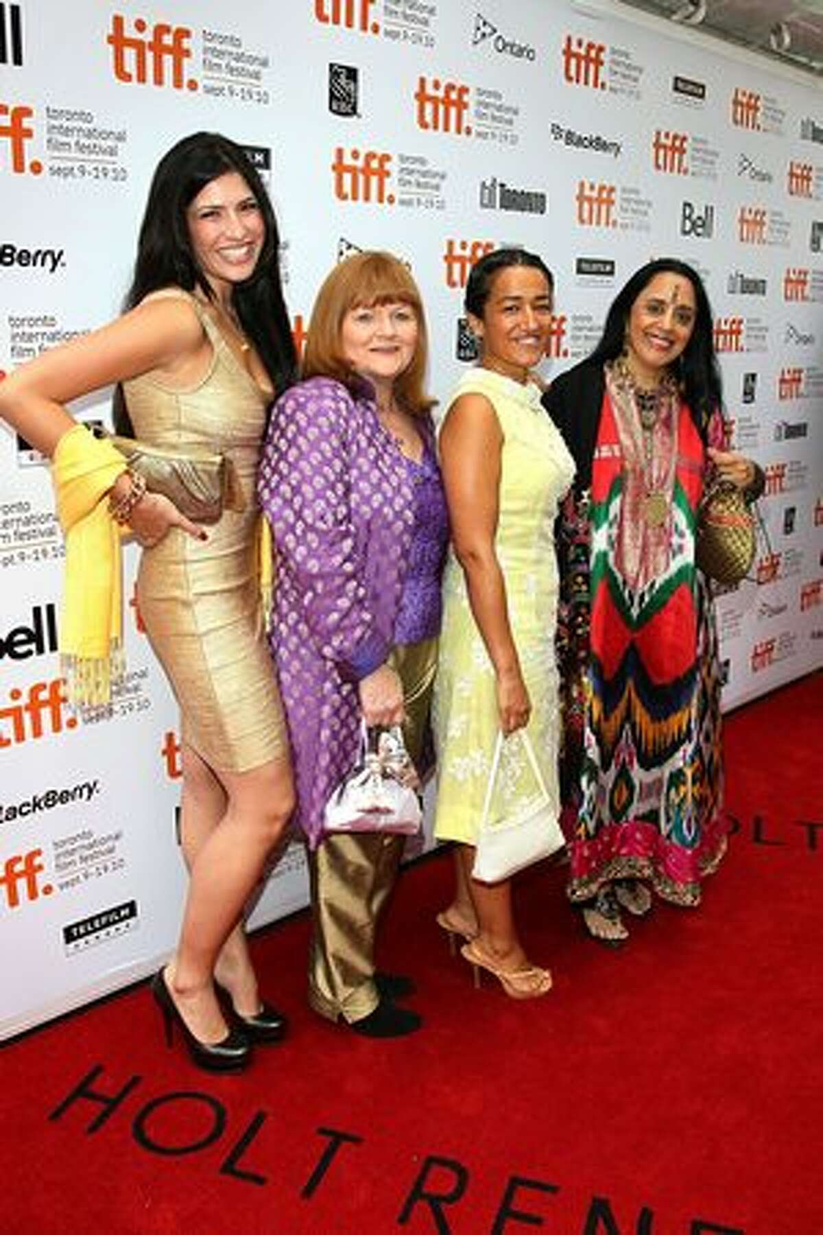 Actresses Shaana Levy Diya, Lesley Nicol, Zita Sattar and Ila Arun attend the