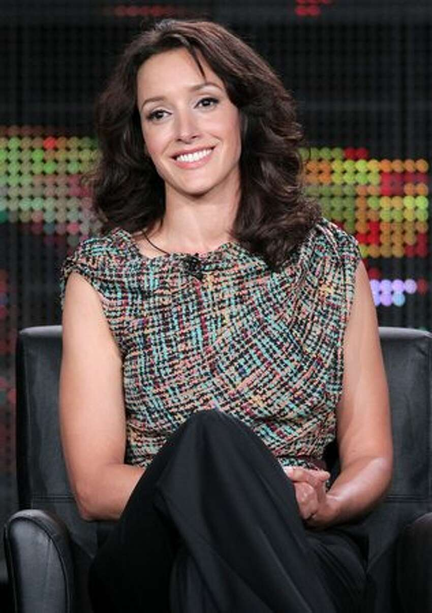 PASADENA, CA - Actress Jennifer Beals speaks onstage during 'The Chicago Code' panel at the FOX Broadcasting Company portion of the 2011 Winter TCA press tour held at the Langham Hotel on Tuesday in Pasadena, California.