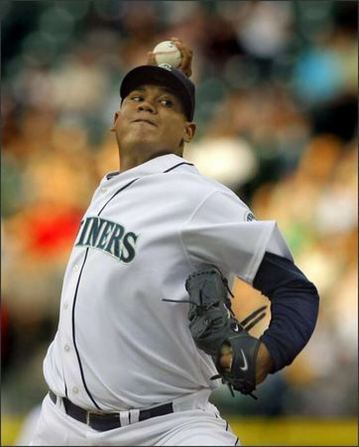 Mariners starter Felix Hernandez faces the Orioles. Photo: Gilbert W. Arias, Seattle Post-Intelligencer / Seattle Post-Intelligencer