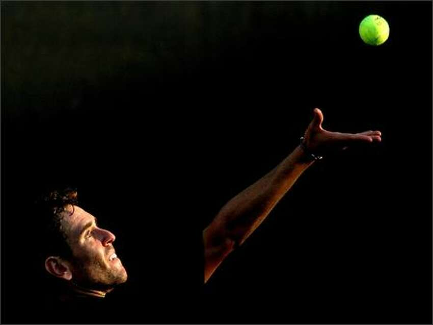 Wayne Odesnik serves to Adrian Garcia of Chile during the Legg Mason Tennis Classic at the William H.G. FitzGerald Tennis Center July 31, 2007 in Washington, DC. Photo by Matthew Stockman/Getty Images