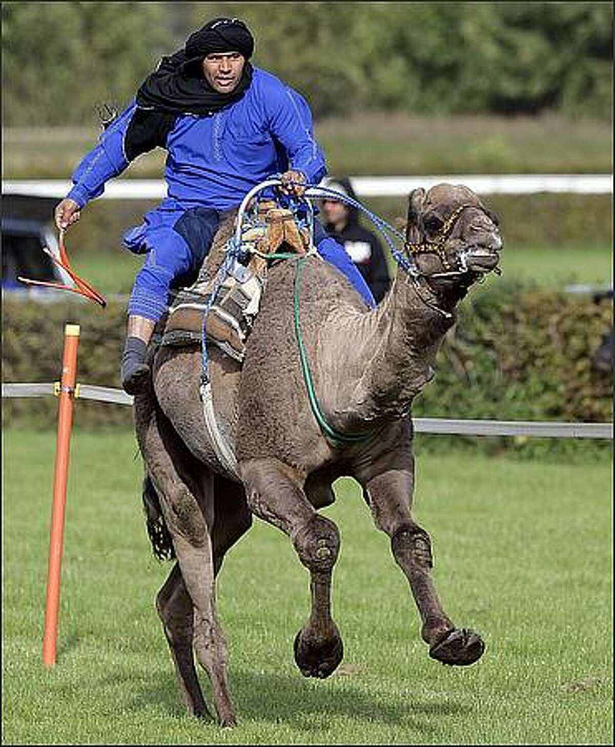 Tunisian Mohamed Ben Boubaker Ben Salem rides on