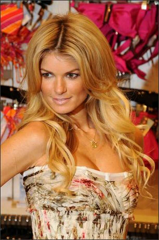 Model Marisa Miller attends the unveiling of Victoria's Secret Swim 2008 Collection at the Victoria's Secret store on Wednesday in New York City. Photo: Getty Images / Getty Images