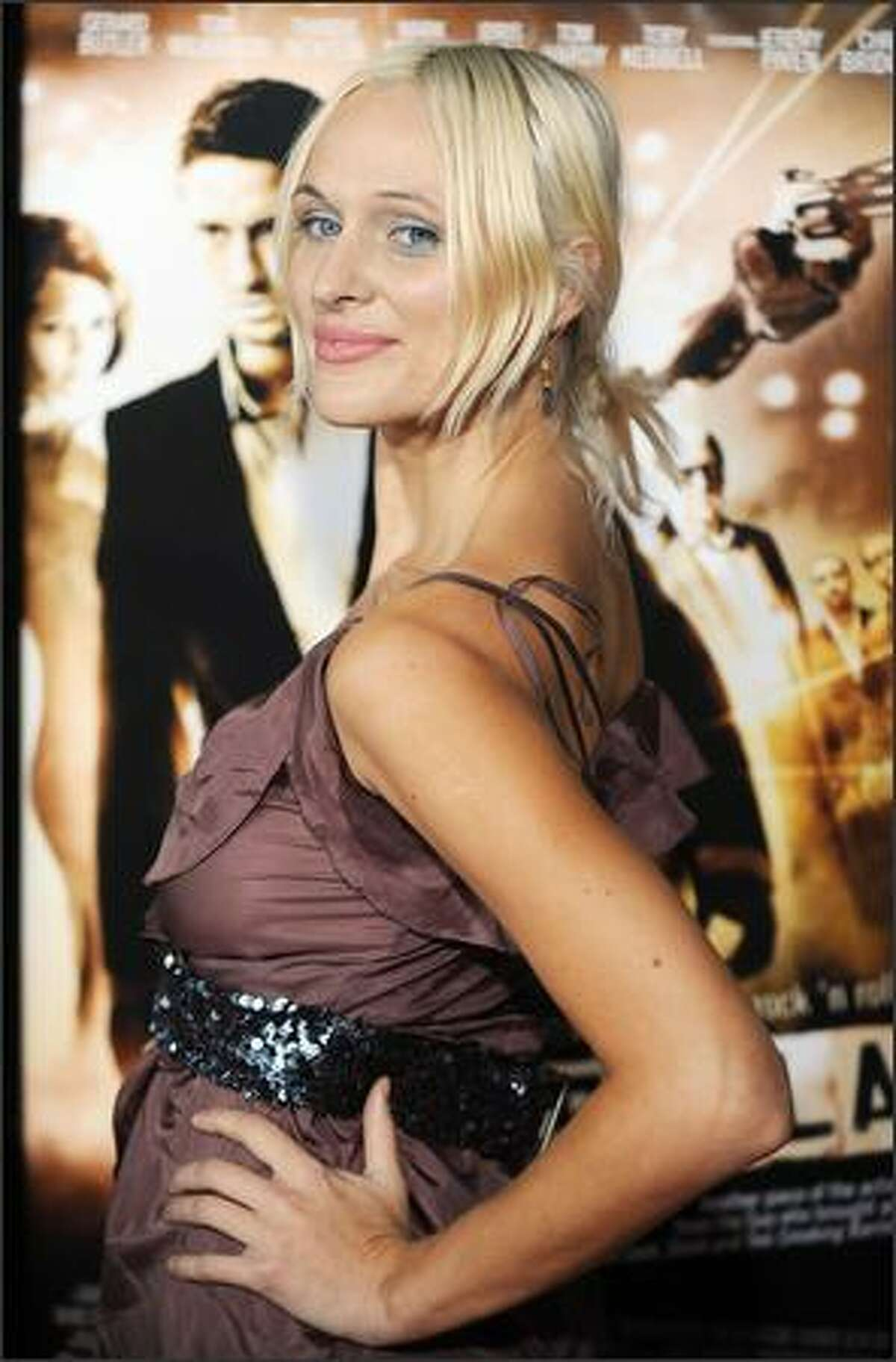 Actress Dominika Wolski arrives for the premiere of the