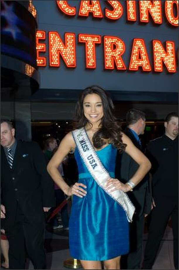 Rachel Smith, Miss USA 2007, poses for a photo prior to a welcome event for the 2008 Miss USA pageant. Photo: Miss Universe L.P., LLLP / Miss Universe L.P., LLLP