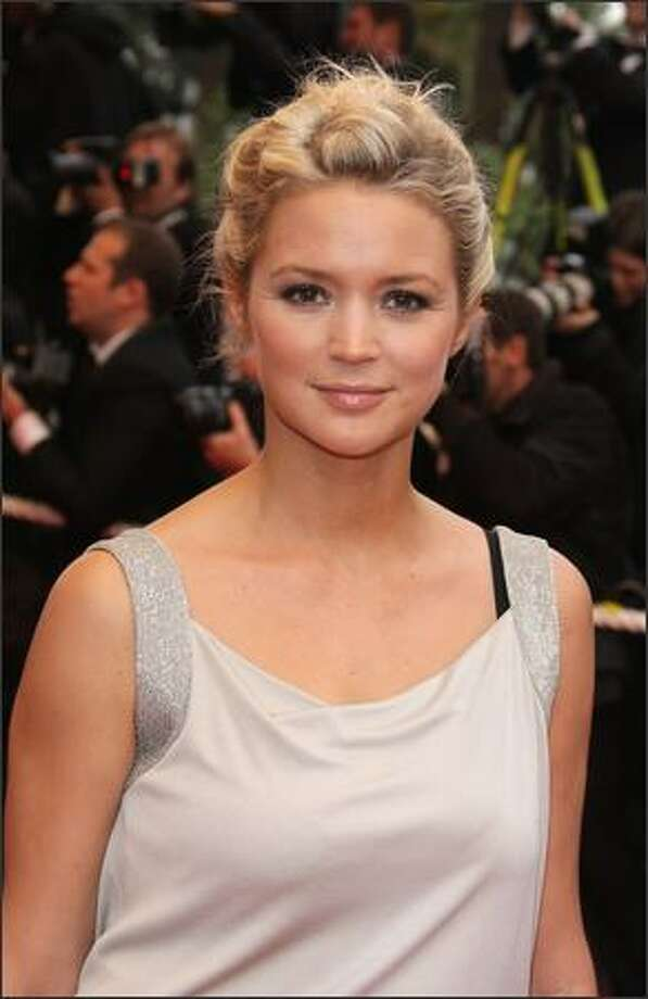 Virginie Efira arrives at Cannes on Friday. Photo: Getty Images / Getty Images