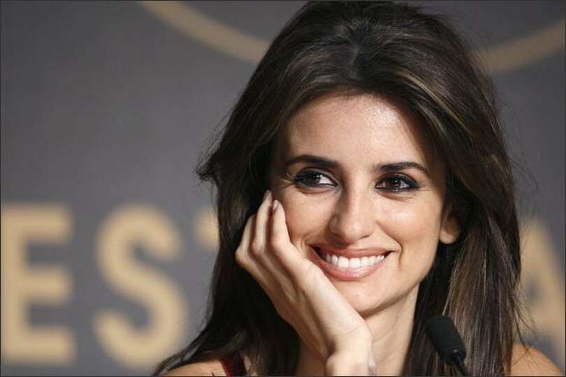 Penelope Cruz smiles during a press conference for
