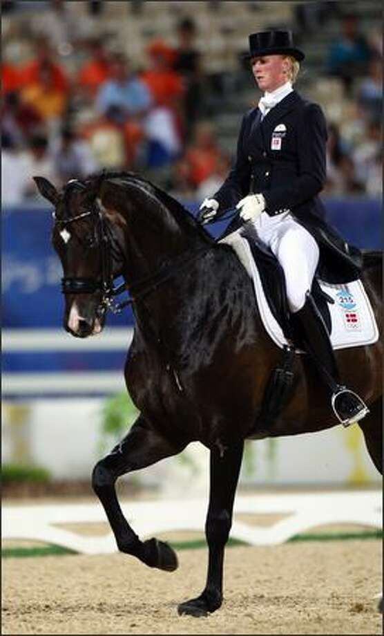 Princess Nathalie von Sayn-Wittgenstein-Berleburg of Denmark and Digby during the Dressage Grand Prix held at the Hong Kong Olympic Equestrian Venue in Sha Tin during day 6 of the Beijing 2008 Olympic Games on Thursday in Hong Kong, China. Photo: Getty Images / Getty Images