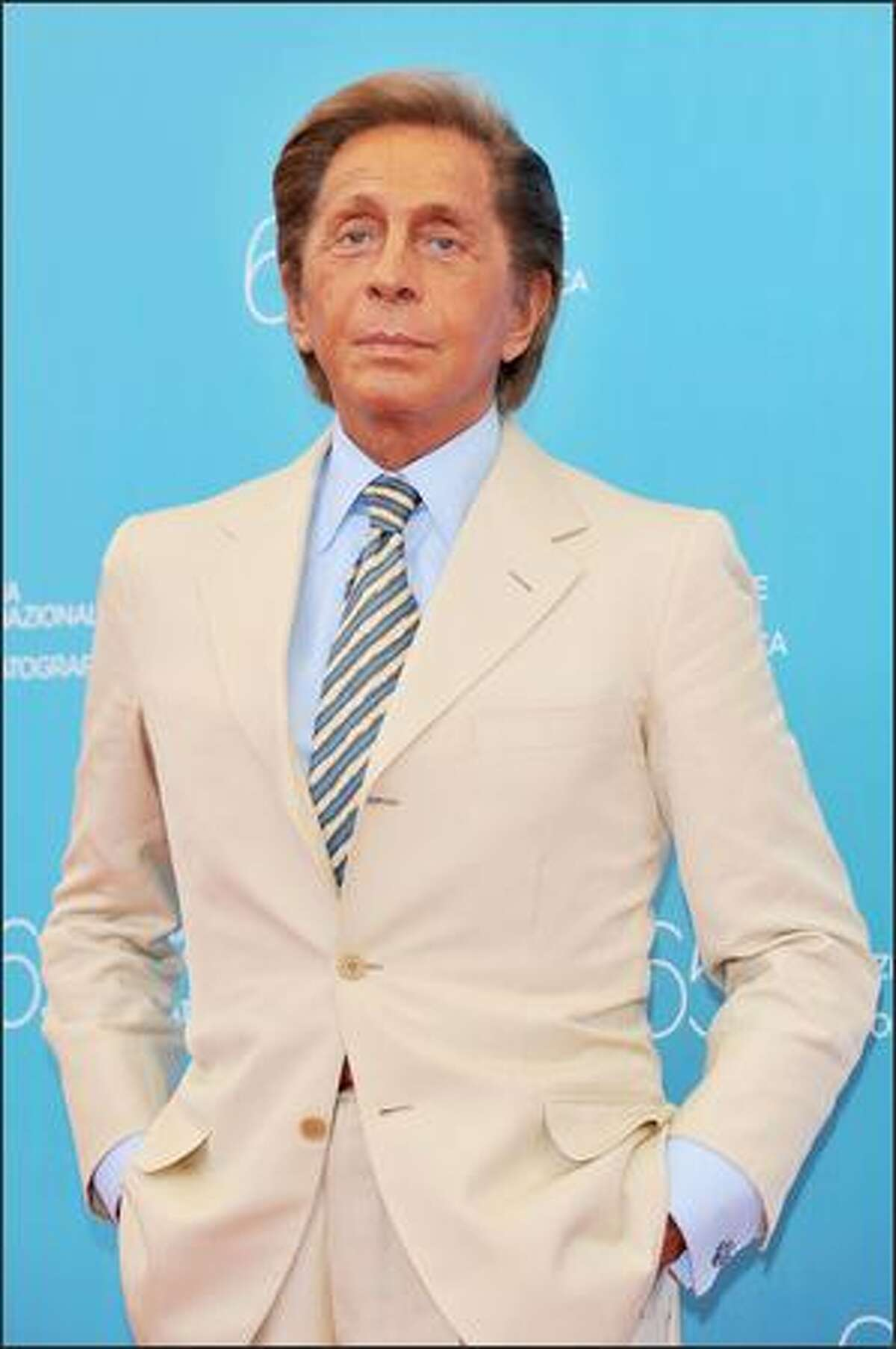 Fashion Designer Valentino poses for the media during the