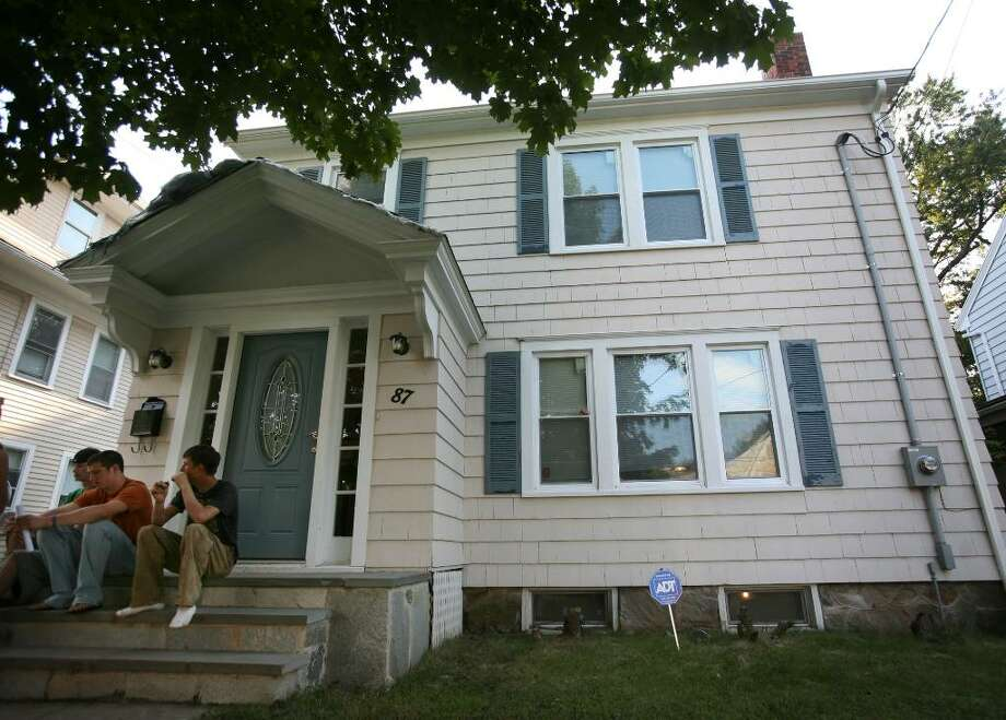 The home at 87 Calvin Avenue in Bridgeport, site of last Friday's beach party that has raised the ire of the Bridgeport City Council and Sacred Heart University. Photo: Brian A. Pounds / Connecticut Post