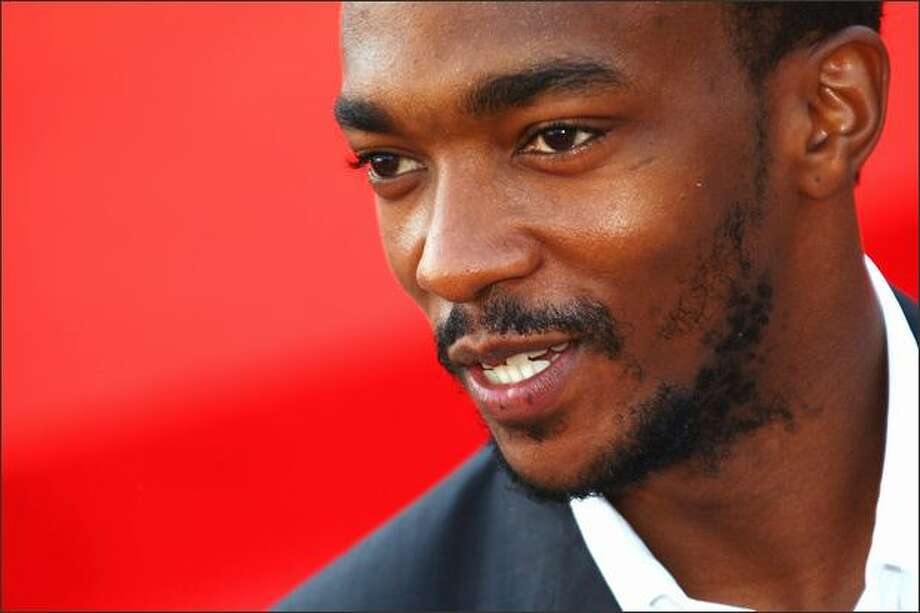 "Actor Anthony Mackie attends the ""Hurt Locker"" premiere at the Sala Grande during the 65th Venice Film Festival on Wednesday in Venice, Italy. Photo: Getty Images / Getty Images"