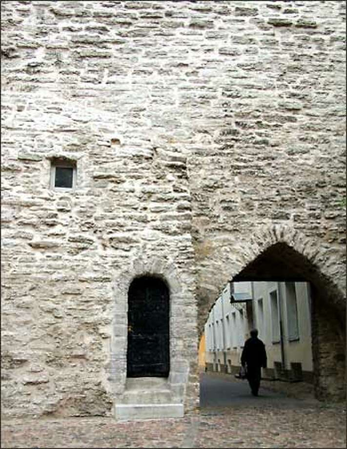 At the heart of Tallinn, Estonia, lies one of the best-preserved medieval towns in Europe. More than a mile and a half of the original stone wall still stands guard around a city full of meandering cobblestone streets. Cobblestone, by the way, looks really quaint and all but isn't particularly comfortable to walk on. Photo: Winda Benedetti, Special To Seattle Post-Intelligencer / Special to Seattle Post-Intelligencer