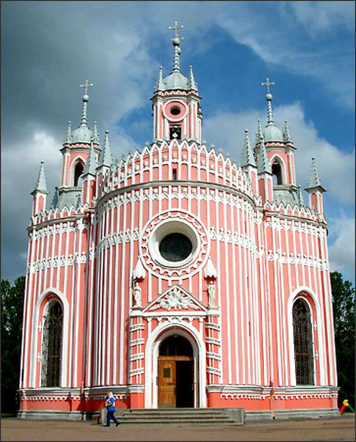 The pink and white Chesma Church (built in 1780) more closely resembled an edible confection than a place of worship.