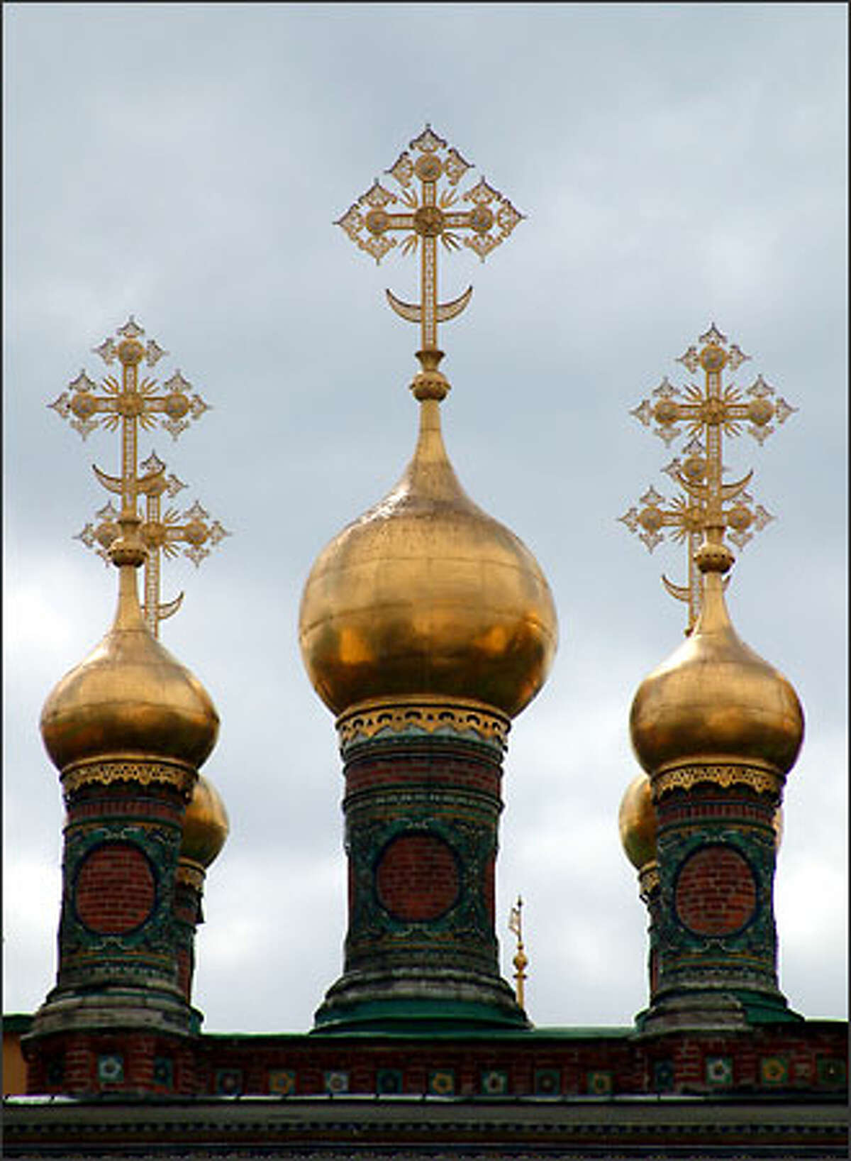 Just a few of the many domes found within the Kremlin walls.