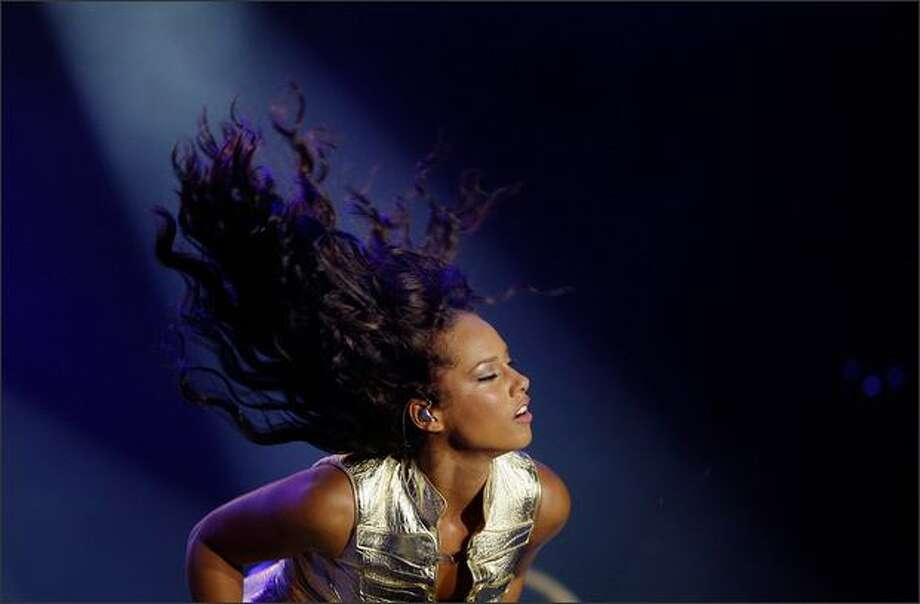Singer Alicia Keys performs on Sunday, the last day of the Dutch North Sea Jazz festival in Rotterdam, Netherlands. The festival started on Thursday. Photo: Getty Images / Getty Images