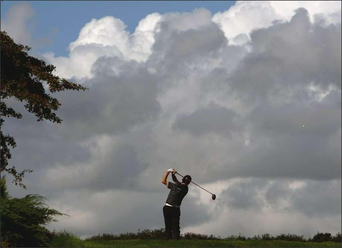 Paul Wardell competes in the Skycaddie PGA fourball Championship, Scottish region pre qualifier at Musselburgh Golf Club on Tuesday in Edinburgh, Scotland.