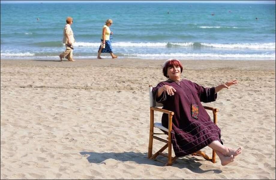 "French director Agnes Varda poses during the photocall of the movie ""Les Plages d'Agnes"" at the 65th Venice International Film Festival at Venice Lido on Wednesday. ""Les Plages d'Agnes"" is presented out of competition. Photo: Getty Images / Getty Images"