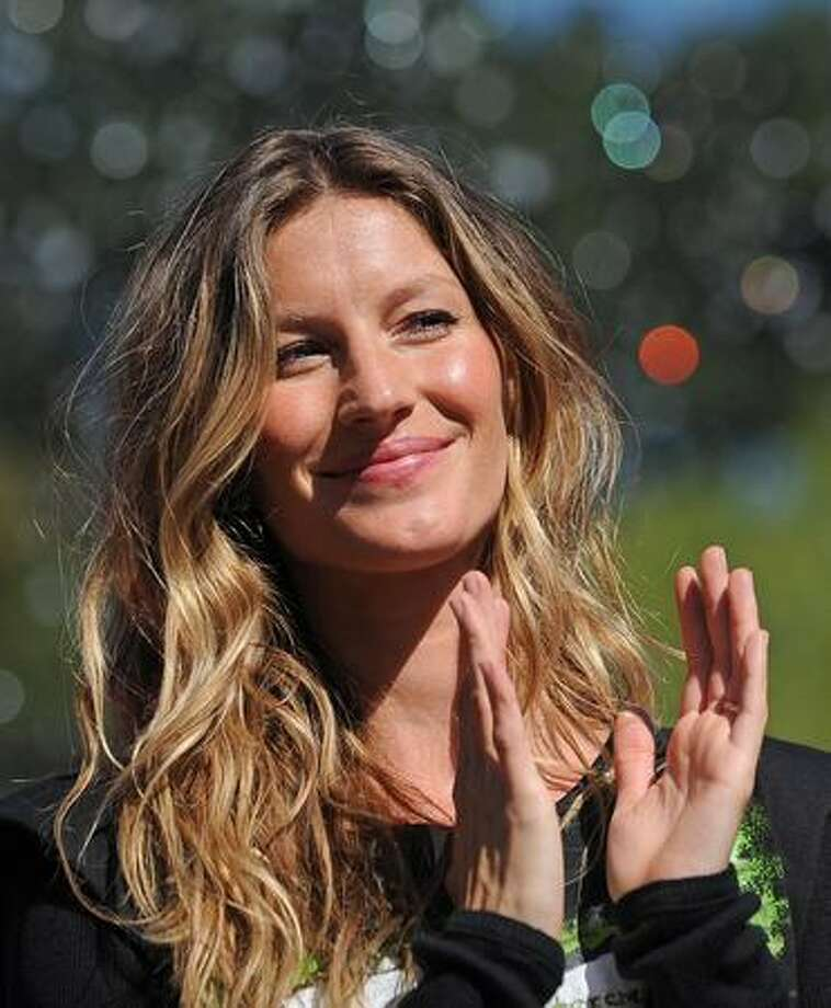 Brazil-born model Gisele Bündchen, who was designated Goodwill Ambassador for the United Nations Environment Programme (UNEP), is seen on Sunday in New York's Washington Square Park. Bundchen will help the UNEP in its mission to raise awareness and promote action to protect the environment. Photo: Getty Images / Getty Images
