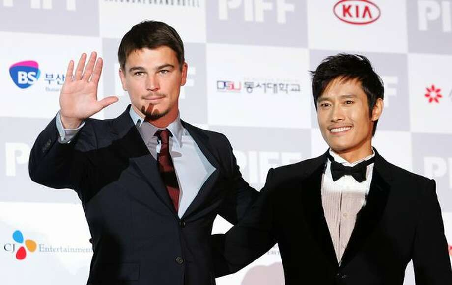 "(L to R) Actor Josh Hartnett and Lee Byung-Hun of ""I Come with the Rain"" arrive at the opening ceremony of the 14th Pusan International Film Festival on Thursday in Busan, South Korea. The biggest film festival in Asia showcases 355 films from 70 countries and runs from October 8-16. Photo: Getty Images / Getty Images"