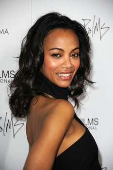 Actress Zoe Saldana arrives. Photo: Getty Images / Getty Images