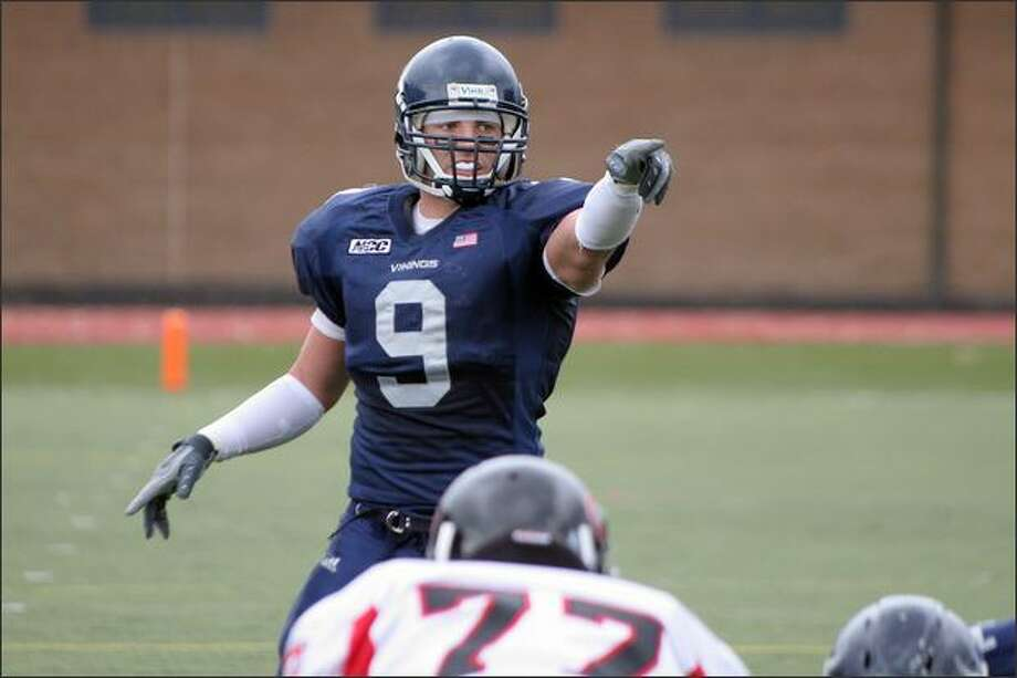Linebacker Shane Simmons, shown playing for Western Washington, was working at an L.A. Fitness when the Seahawks asked if he would like to attend their minicamp. (Western Washington University)
