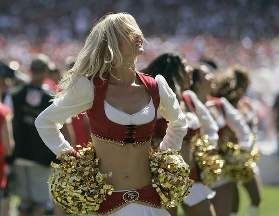 SAN FRANCISCO - SEPTEMBER 20: San Francisco 49ers Goldrush perform during the home opener as the San Francisco 49ers host the Seattle Seahawks at Candlestick Park September 20, 2009 in San Francisco, California. Photo: Getty Images / Getty Images
