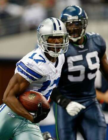 Wide receiver Sam Hurd #17 of the Dallas Cowboys runs for a touchdown against the Seattle Seahawks at Cowboys Stadium on November 1, 2009 in Arlington, Texas. Photo: Getty Images / Getty Images