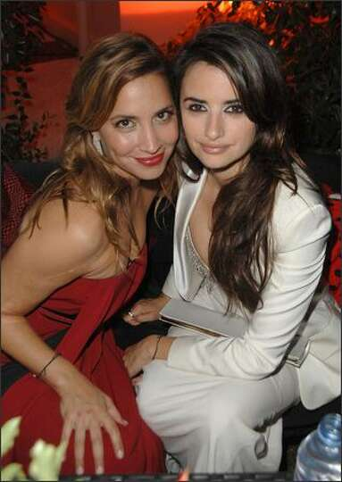 Daya Fernandez and actress Penelope Cruz attend the Akvinta Presents 'A Night of Hollywood Domino' a